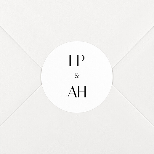 Wedding Envelope Stickers Insignia white - View 2