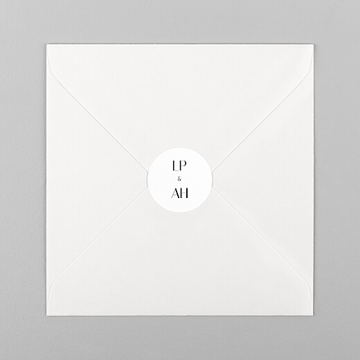 Wedding Envelope Stickers Insignia white - View 1