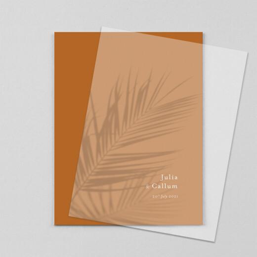 Wedding Invitations Mediterranean dream (vellum) palm tree - View 1