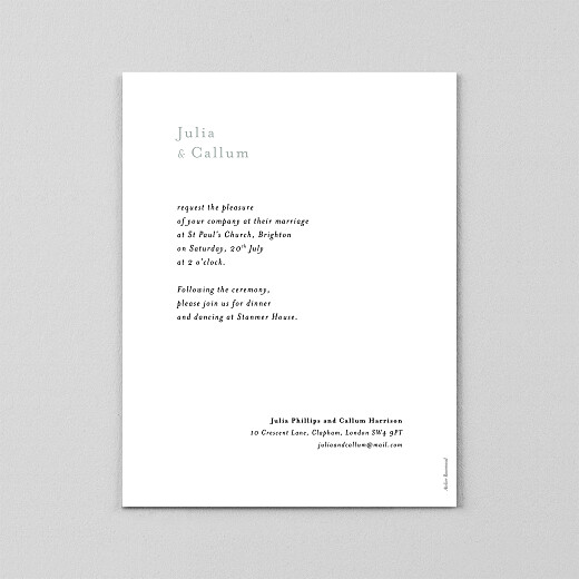 Wedding Invitations Daydreamer (vellum) gypsophile - View 3