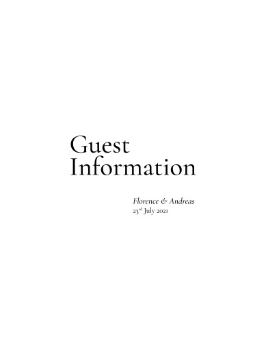 Guest Information Cards Today & always white