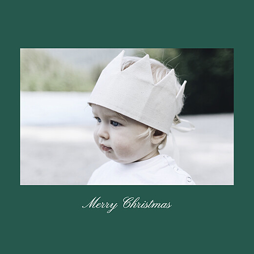 Christmas Cards Minimalist frame (foil) square green