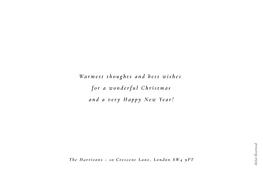 Christmas Cards Calligraphy (landscape) white - Page 2