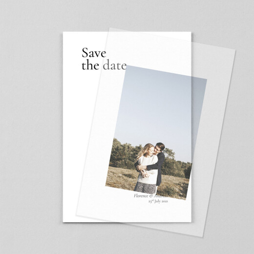 Save The Date Cards Today & always small portrait (vellum) white - View 1