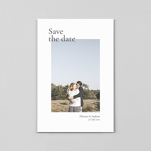 Save The Date Cards Today & always small portrait (vellum) white - View 2