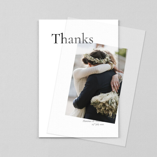 Wedding Thank You Cards Today & always small portrait (vellum) white - View 1