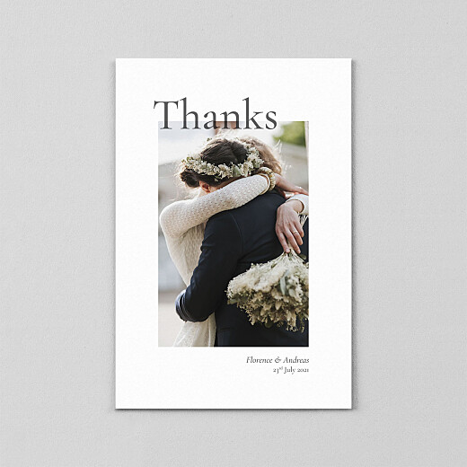 Wedding Thank You Cards Today & always small portrait (vellum) white - View 2