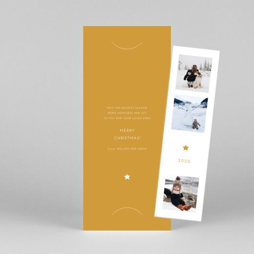 Christmas Cards Elegant star (bookmark) yellow - View 1