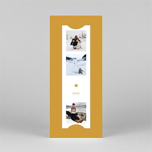 Christmas Cards Elegant star (bookmark) yellow - View 2