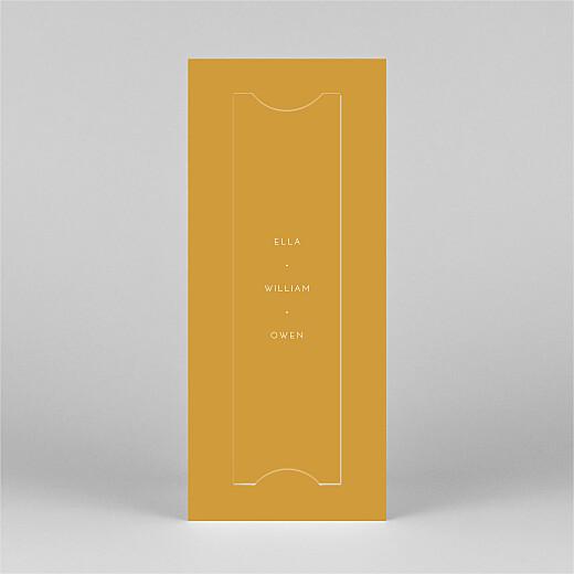 Christmas Cards Elegant star (bookmark) yellow - View 3