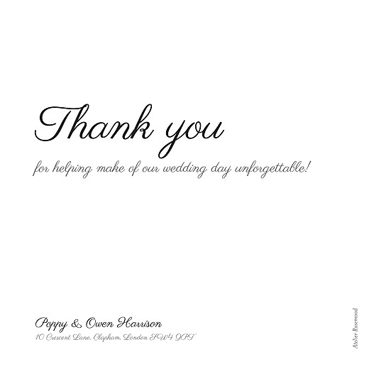 Wedding Thank You Cards Memory white - Page 2