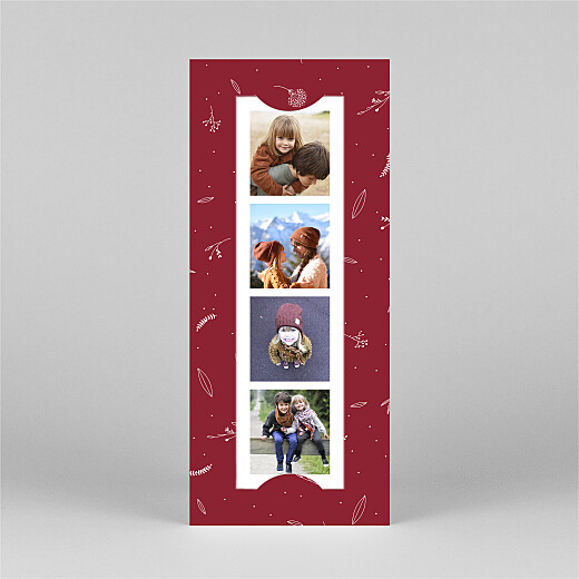 Christmas Cards Elegant foliage (bookmark) red - View 2