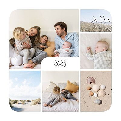 Christmas Cards Tender moments (photos) white finition