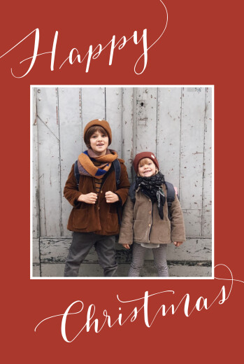 Christmas Cards Swing 2 photos (4 pages) red