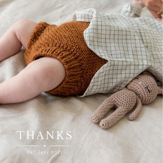 Baby Thank You Cards Nice detail white