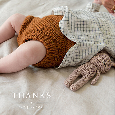 Baby Thank You Cards Nice detail white finition