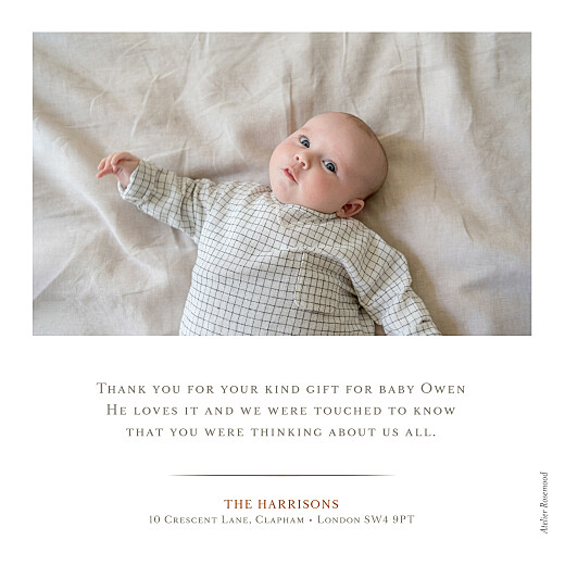 Baby Thank You Cards Nice detail white - Page 2