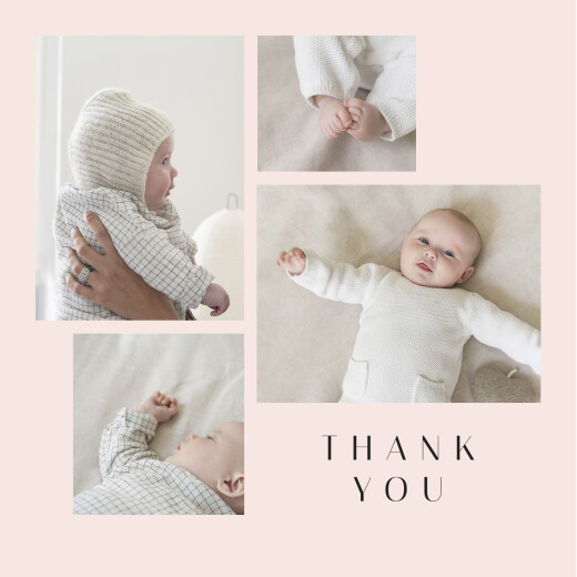 Baby Thank You Cards Candy floss pink