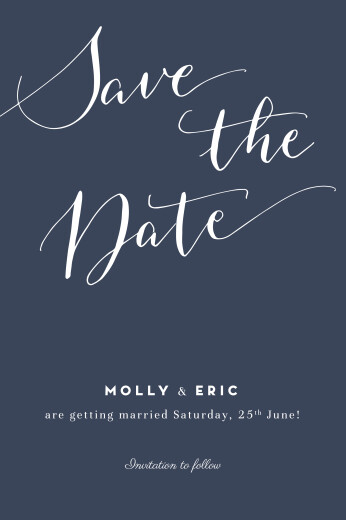 Save The Date Cards Swing navy blue