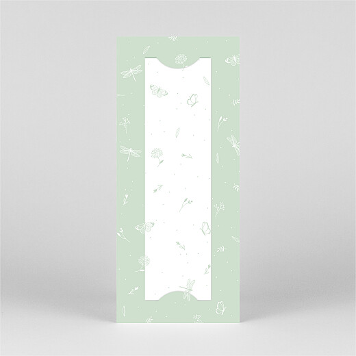 Baby Announcements Elegant butterfly (bookmark) green - View 3