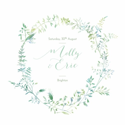 Wedding Invitations Country meadow (square) green