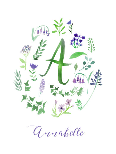 Small Posters Floral alphabet white - Page 1