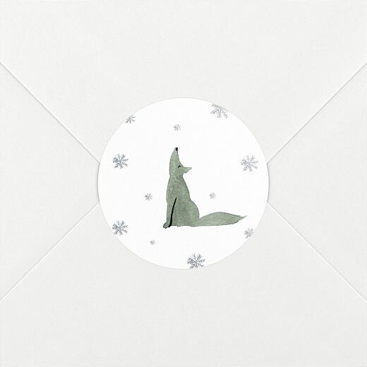 Christmas Stickers Tundra wolf - View 2