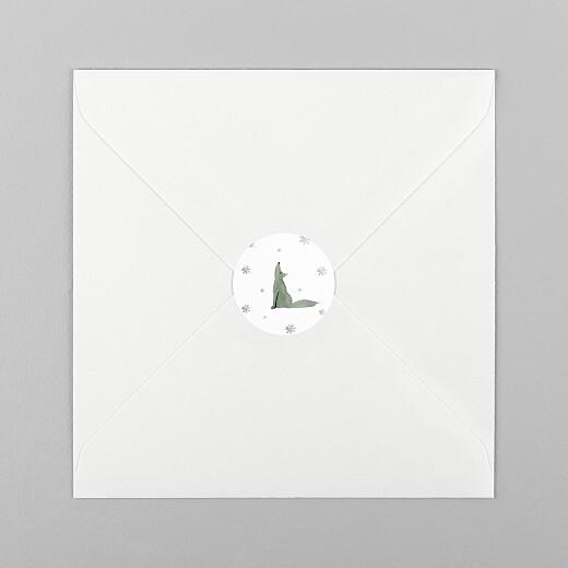 Christmas Stickers Tundra wolf - View 1