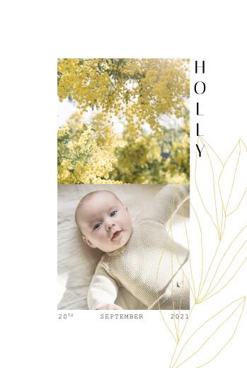 Baby Announcements Season yellow