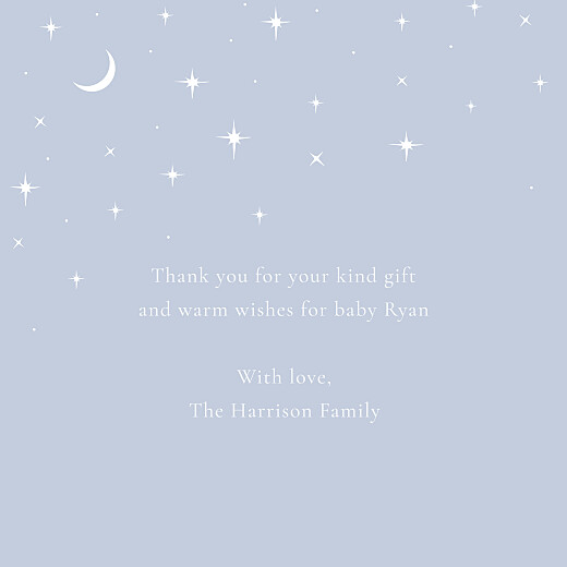 Baby Thank You Cards Under the stars (4 pages) blue - Page 3