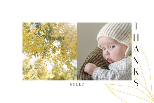 Baby Thank You Cards Season yellow