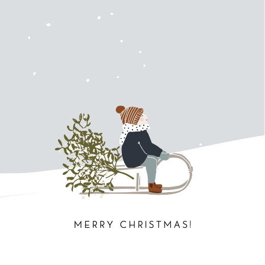 Christmas Cards Winter snow (4 pages) 1