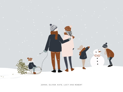 Small Posters Winter family (3 children) 1 - Page 1