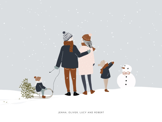 Small Posters Winter family (2 children) 1 - Page 1