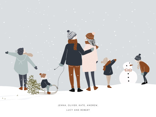 Small Posters Winter family (4 children) 1 - Page 1