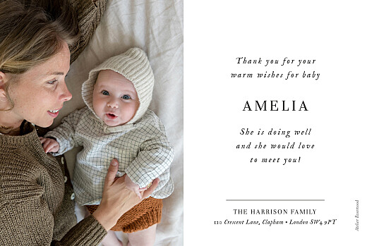 Baby Thank You Cards Sweet moments (5 photos) white - Page 2