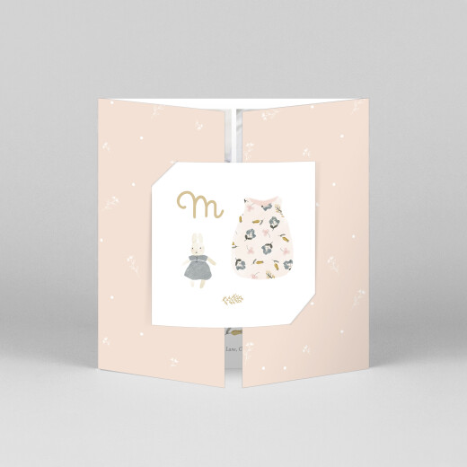 Baby Thank You Cards Sweet dreams (gatefold) pink - View 1