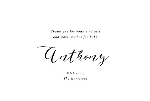 Baby Thank You Cards Calligraphy (landscape) white - Page 3
