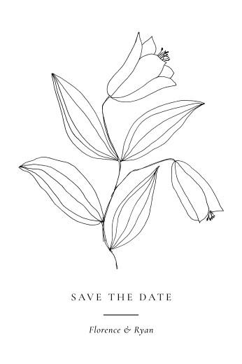Save The Date Cards Love poems white