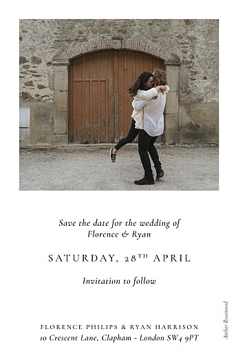 Save The Date Cards Love poems white - Page 2