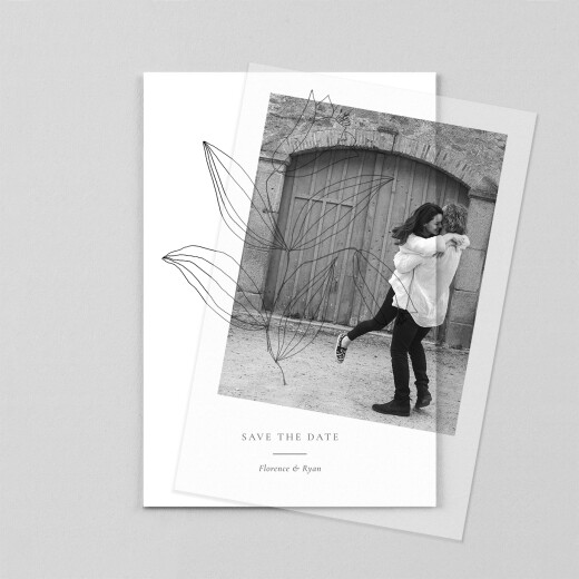 Save The Date Cards Love poems (vellum) white - View 1