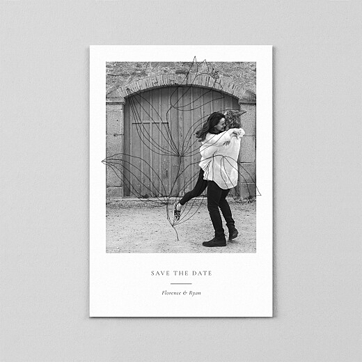 Save The Date Cards Love poems (vellum) white - View 2
