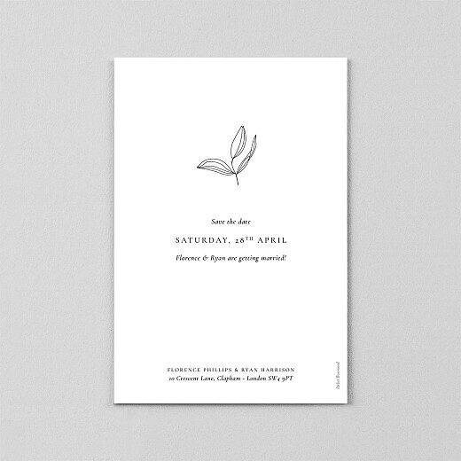 Save The Date Cards Love poems (vellum) white - View 3