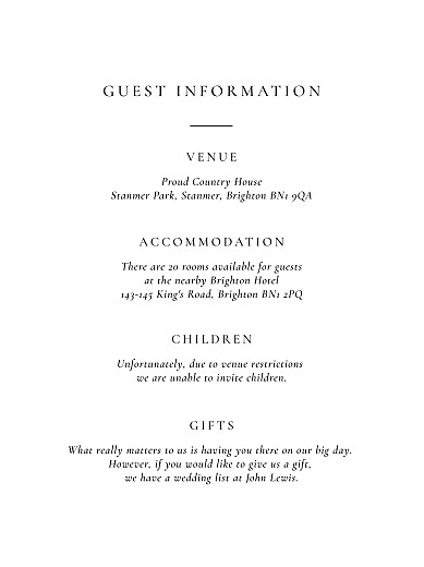 Guest Information Cards Love poems (portrait) white - Page 2