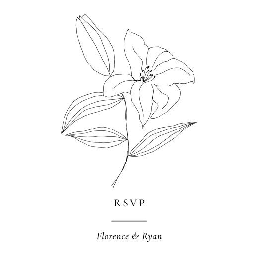 RSVP Cards Love poems (square) white