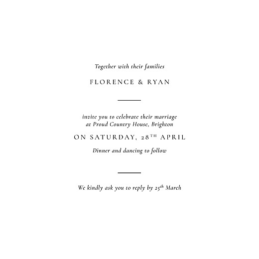 Wedding Invitations Love poems white - Page 3