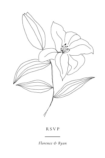 RSVP Cards Love poems white