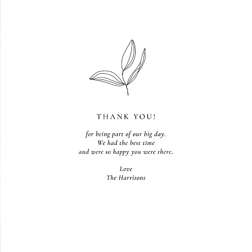 Wedding Thank You Cards Love poems (4 pages) white - Page 3