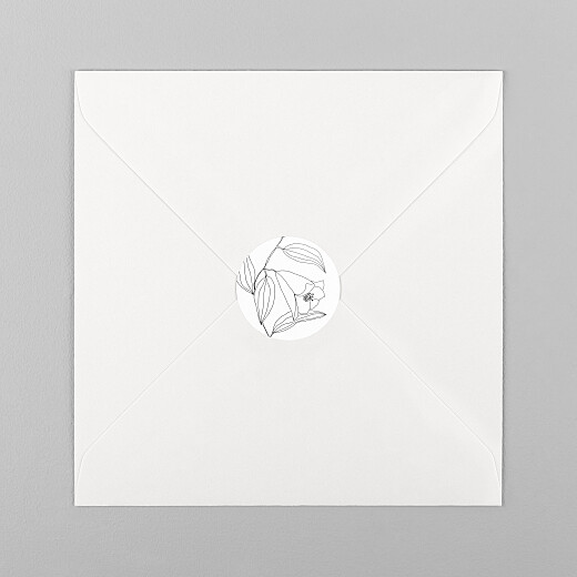 Wedding Envelope Stickers Love poems white - View 1