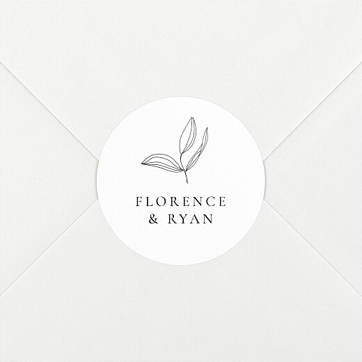 Wedding Envelope Stickers Love poems white - View 2